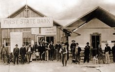 Nevada turned 150 this week. Looking back into the picture archives tells a fascinating story of the state and its gambling centres, Las Vegas and Reno. Here is the First State Bank of Nevada, which set up temporary quarters at Kuhn's Store before the auction of Las Vegas town lots in 1905.