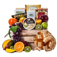 Our Fresh Fruit and Gourmet specialties crate is filled to the brim with delicious Fruits and Gourmet Treats, perfect for any occasion. This crate includes Appl Holiday Gift Baskets, Gourmet Gift Baskets, Christmas Baskets, Fathers Day Baskets, Fruit Gifts, Delicious Fruit, Thanksgiving Gifts, Fresh Fruit, Crates
