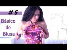 Aprende con SANDRA PADILLA : Patrón Básico de BLUSA Dress Sewing Patterns, Clothing Patterns, Bodice Pattern, Sewing Clothes, Pattern Making, Dressmaking, Sewing Projects, Womens Fashion, Blog