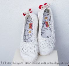 Crochet & Craft: HOW TO TURN CROCHET SLIPPERS INTO STREET SHOES!