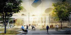 nemzetközi tervpályázat egyik nyertese, a japán Sou Fujimoto Architects látványterve, amely alapján megépülhet a Magyar Zene Háza.