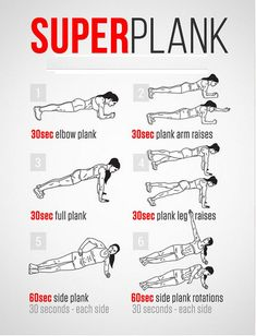 Super Plank Workout. THE PLANK WORKS EVERY MUSCLE IN YOUR BODY!