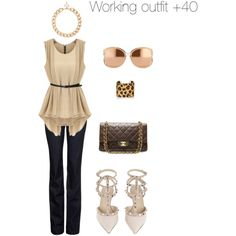 Working woman +40 #outfit #ootd # look #woman #itgirl #workingclass #chanel #valentino