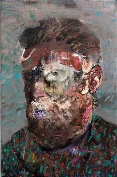 Adrian Ghenie, Self-portrait as Vincent van Gogh on ArtStack #adrian-ghenie #art