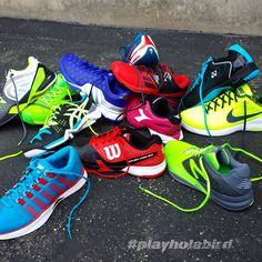 #Tennis season is in full swing. Grab the color and brand that best match your game here at Holabird Sports .   #playholabird #Wilsontennis #Nike #Yonex #Lotto #Asics #HeadTennis #Diadora #Adidas #Babolat #NewBalance #KSwiss #Colorways #NEWSHOES #New