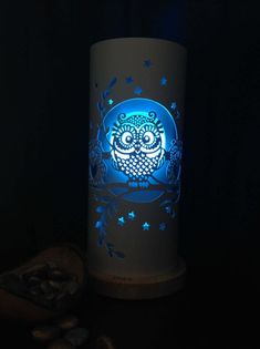 Farmhouse Dinnerware Sets, Owl Family, Dramatic Lighting, Electrical Components, Pvc Pipe, Hand Engraving, Light Table, Night Light, Molde