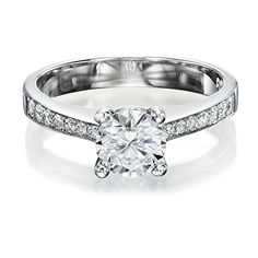 Diamond Engagement Ring 1/2 ct, K Color, VS2 Clarity, Certified, Round Cut, in 14K Gold / White - http://www.sofiasluxuryjewelry.com/jewelry/diamond-engagement-ring-12-ct-k-color-vs2-clarity-certified-round-cut-in-14k-gold-white-com/