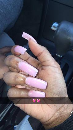 Beautiful & Pretty Pink long acrylic nails