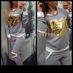 Cheap tracksuit ladies, Buy Quality tracksuit store directly from China women tracksuit Suppliers:        women clothing sexy t shirt harajuku backless lace t-shirt brand desigual fashion l
