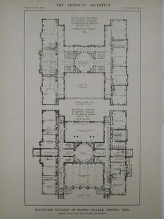 Floor plans of Palacio de la Magdalena, Santander, Spain. From 1912 ...