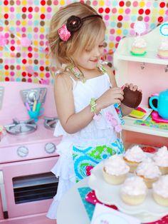 4 adorable birthday party themes for girls: cupcake, cherry picnic, paris glam, pajama