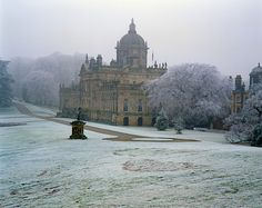 El frente del jardín en el sureste de Castle Howard, Yorkshire,