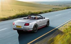 Download wallpapers Bentley Continental GT, 2017, Speed Black Edition, 4k, white convertible, luxury cars, Bentley