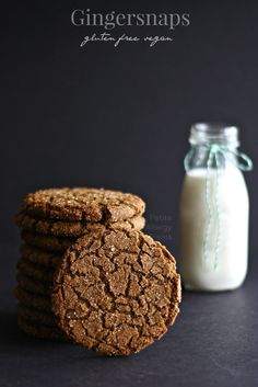 Gluten Free Vegan Gingersnaps Cookie- Chewy, crisp and soft gingersnap with just enough spice and is Vegan and Egg Free.| Great for Thanksgiving or Christmas!