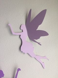 Fairy Wall Art 8 paper fairy wall art, 3d fairy wall decal, whimsical room decor
