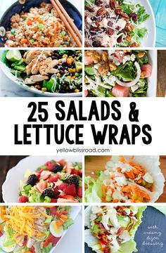 25 Delicious Salads & Lettuce Wraps