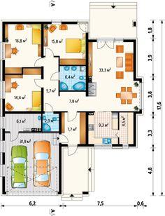 Проект Клевер Г2: 1 этаж кирпич/блоки, площадь - 162 м2 | Готовые проекты домов - Proekt-shop