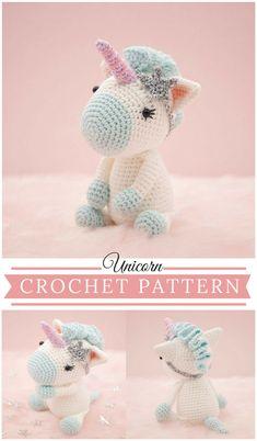 Cute Unicorn Crochet Pattern #etsy #pdf #ad #crochet #crochetpattern #crochetunicorn #amigurumi #unicorn