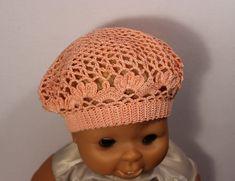 Как связать детский летний берет крючком.How to crochet  beret free pattern tutorial