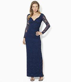 Lauren Ralph Lauren Sequined Surplice Dress | Dillard's Mobile