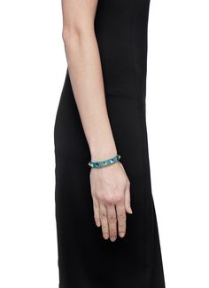 VALENTINO 'Rockstud' skinny leather bracelet