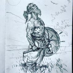 "9,265 Likes, 31 Comments - Karl (@karlkopinski) on Instagram: ""Old Viking sketch"""