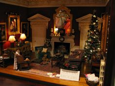 MitchyMooMiniatures: Report from the Kensington Dollhouse festival ( a lot of photos) (jt-Mulvany and Rogers Christmas room box 2014)