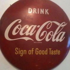 Vintage Red Coca cola sign