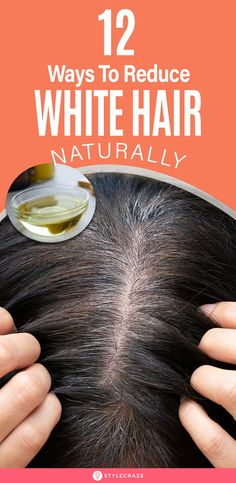 7 Causes And 12 Ways To Reduce White Hair Naturally: Both gray and white hair ar. - - 7 Causes And 12 Ways To Reduce White Hair Naturally: Both gray and white hair are the result of your hai. Causes Of White Hair, Grey Hair Remedies, Grey Hair Natural Remedy, Natural White Hair, Natural Beauty, Cheveux Ternes, Dull Hair, Darken Hair, Hair Color Dark
