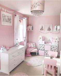 Little girls bedroom nursery pink makeup rooms, makeup room diy, little Baby Room Decor, Home Decor Bedroom, Nursery Decor, Room Interior, Interior Design Living Room, Kids Bedroom Designs, Toddler Rooms, Pink Room, Little Girl Rooms