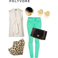 I love the entire outfit, except the wedges are a bit too much. I try not to wear animal print.