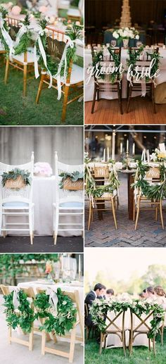 greenery couple chari decoration and accessories ideas
