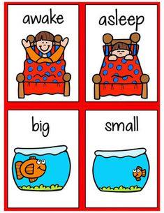 ESL Vocabulary Opposites - Unit 8 ELL Activities Opposites For Kids, Opposites Preschool, Preschool Learning, Kindergarten Activities, Teaching, English Worksheets For Kids, English Lessons For Kids, Kids English, Learn English
