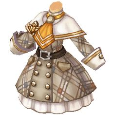 Tree of Savior Item Database: Equipment. Manga Clothes, Drawing Anime Clothes, Dress Drawing, Kawaii Clothes, Dress Design Sketches, Fashion Design Drawings, Fashion Sketches, Anime Outfits, Mode Outfits