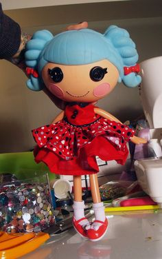 Lalaloopsy Red Dot Party Dress by PeppermintPiglets on Etsy, $7.50