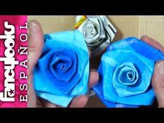 Cómo hacer Rosas con bolsas del supermercado-Me gusta reciclar - YouTube