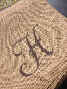 Monogram Burlap Table Runners