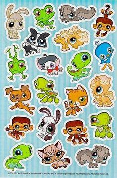 Littlest Pet Shop Stickers 3 sheets scrapbooking by tjmccarty, $2.25