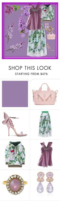 """""""Lace Trimmed skirt"""" by mkdetail ❤ liked on Polyvore featuring Kenzo, Sophia Webster, Dolce&Gabbana, Alessandro Dell'Acqua and Dana Rebecca Designs"""