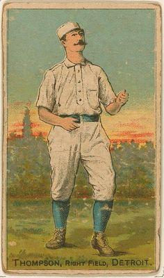 [Sam Thompson, Detroit Wolverines, baseball card portrait]