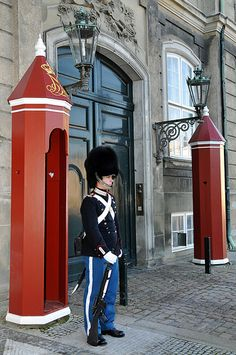 Denmark - my cousin Jakob spent his 2 years of service as a Palace Guard . . . says the queen was quite nice!