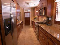 Gorgeous Galley Kitchen : New Spaces : Home & Garden Television