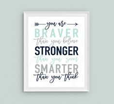 Teal Navy Gray Winnie the Pooh kids playroom sign, PRINTABLE wall art You are BRAVER than you believe toddler boy bedroom decor, boys poster Boy Toddler Bedroom, Toddler Room Decor, Boys Bedroom Decor, Boy Room, Bedroom Ideas, Boy Bedrooms, Nursery Ideas, Girls Bedroom, Nursery Decor