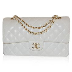Chanel White Medium Double Flap Bag http://www.consignofthetimes.com/product_details.asp?galleryid=7989