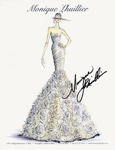 Would love to have a wedding gown sketch to frame and hang up after the wedding