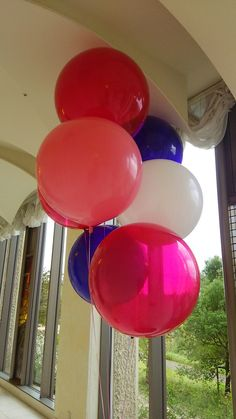 These are beautiful! Big Round Balloons, Latex Balloons, Beautiful, Globes