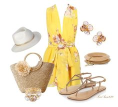 """floral platsuit"" by leeann829 ❤ liked on Polyvore featuring Ben-Amun, Accessorize and Ted Baker"