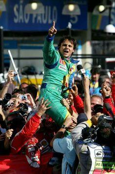 Massa Interlagos 2006 Brazilian Grand Prix, F1 Drivers, Philippe, Car And Driver, Champions, Cool Baby Stuff, Captain America, Ferrari, Legends