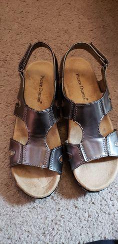4756fa459c74 Pierre Dumas Sandals SILVER size 6  fashion  clothing  shoes  accessories   womensshoes  sandals (ebay link)