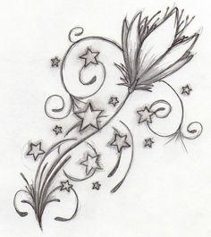DeviantArt: More Like Penguin Tattoo Design 2 by favouritemistake Flower Tattoo Stencils, Flower Tattoo Drawings, Flower Tattoos, Art Drawings, Star Tattoo Designs, Flower Tattoo Designs, Flower Designs, Art Designs, Star Tattoos
